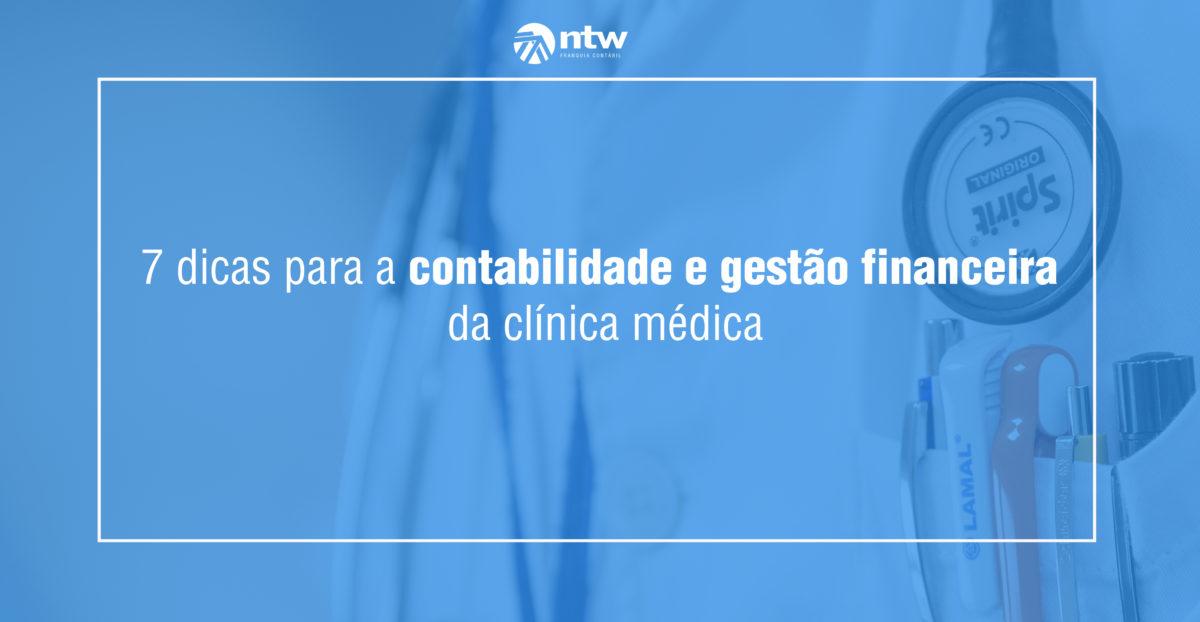 contabilidade e gestão financeira da clínica médica
